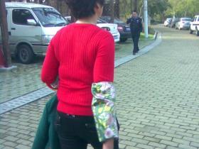 令人发指:园博苑协警当众打女学生