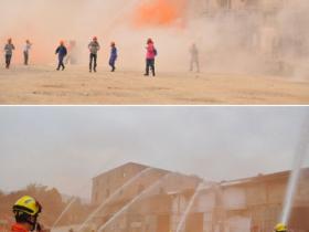 同安在厦门最大危化品仓库举行消防演习