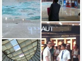 恐怖:厦门万达广场屋顶玻璃坠落