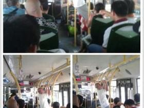 """厦门""""公交运动爷""""惊现859路公交"""