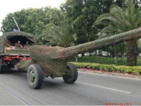 厦门路上惊现军车、大炮