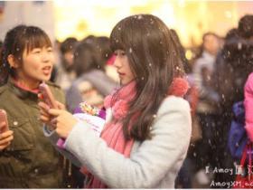 圣诞夜湖里万达人工降雪:现场幸福实拍