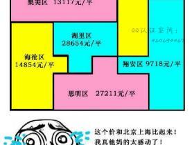 厦门房价(均价)抽象地图出炉