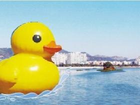 奔走相告吧!巨无霸大黄鸭将栖息厦门海沧湖