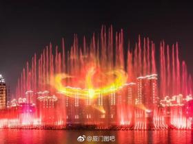 海沧喷泉:厦门首座大型海水喷泉水秀工程即将亮相
