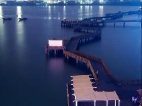 夜幕下的五缘湾,宁静的美