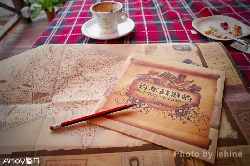 厦门手绘地图、厦门鼓浪屿手绘地图(1)