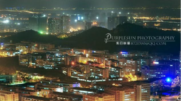 360度超低空航拍厦门夜景