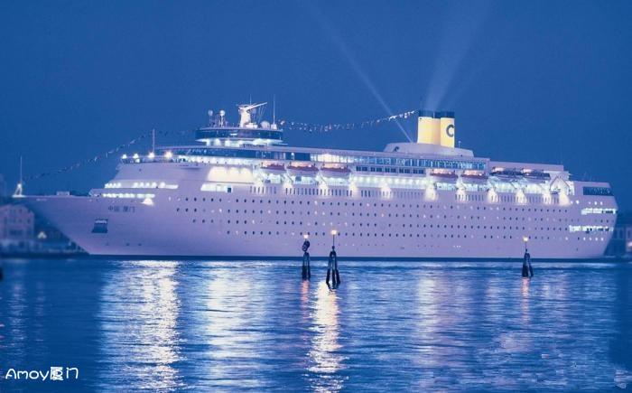 国内首艘豪华邮轮:中国厦门号 是泰坦尼克2倍多