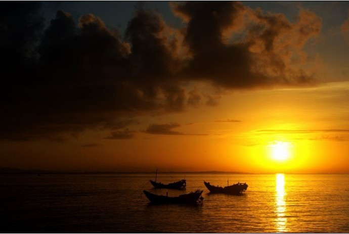 看日落,感受心灵的震撼