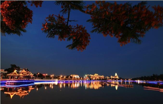 厦门集美夜景,越夜越辉煌
