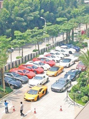 厦门超豪华婚礼:数十辆跑车,吴宗宪也参加