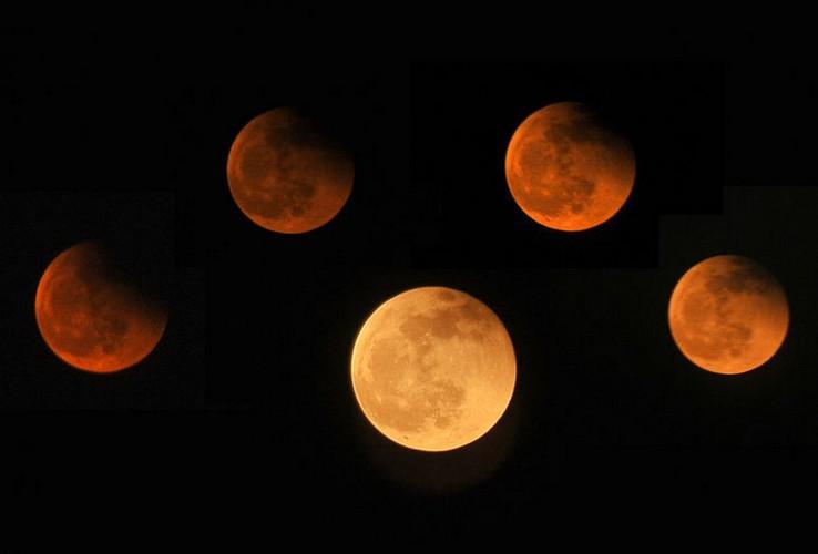 6月4日晚,一起约好看月偏食