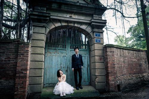 在鼓浪屿,自拍婚纱照