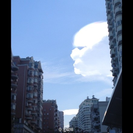 厦门天空惊现巨型人脸