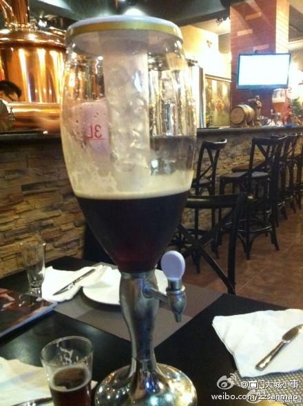 观音山啤酒屋:半小时喝完一杯免费