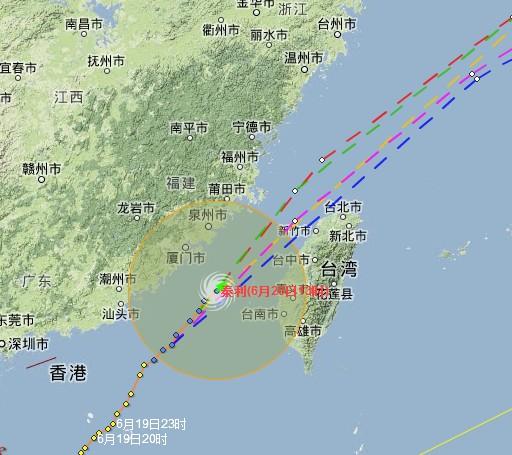 路人甲:台风泰利欲穿越台湾海峡?