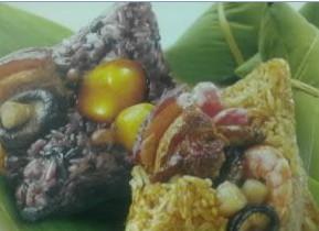 澳联墨江紫米肉粽:零星的点缀