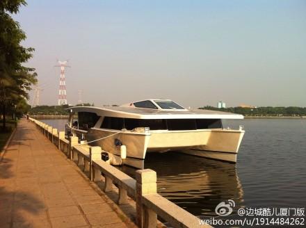 筼筜湖变身游艇乐园:可在太阳能游船上开party