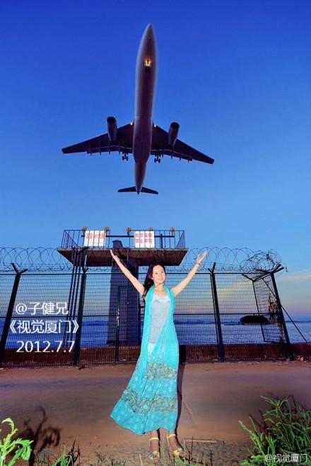 另类写真:让大海与飞机见证你幸福的永恒