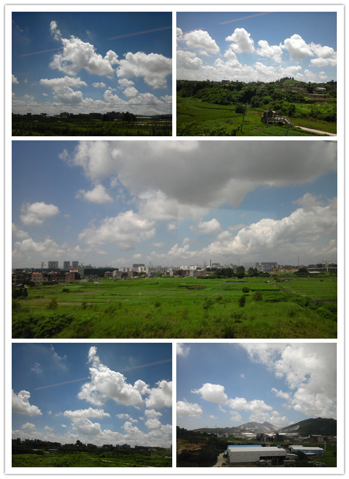 实拍:动画般的蓝天白云