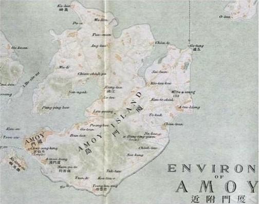 厦门岛地图,100年前的厦门,厦门老地图,厦门古代地图 1