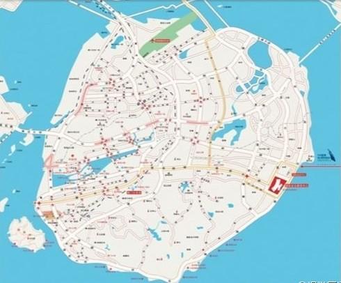 厦门岛地图,100年前的厦门,厦门老地图,厦门古代地图 2