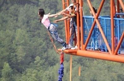 中国最高的蹦极,你敢跳么?