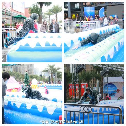 """【厦门圣诞节】海沧大摩阿罗海城市广场""""下雪""""啦"""
