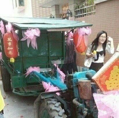 屌爆了:厦门翔安内厝某户人家接新娘的现场