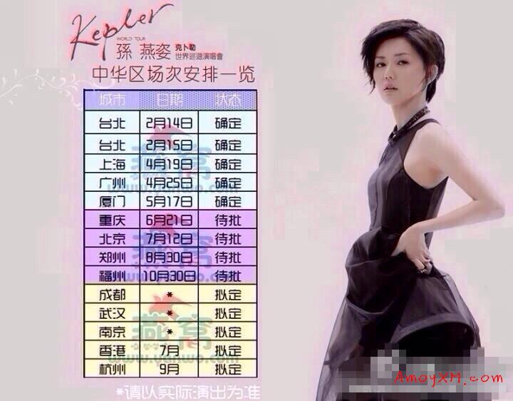2014孙燕姿世界巡回演唱会  厦门站来了