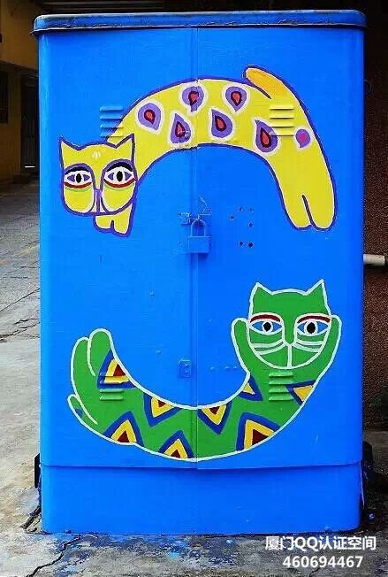 厦门顶澳仔变成了猫街!创意猫涂鸦,简直萌翻了