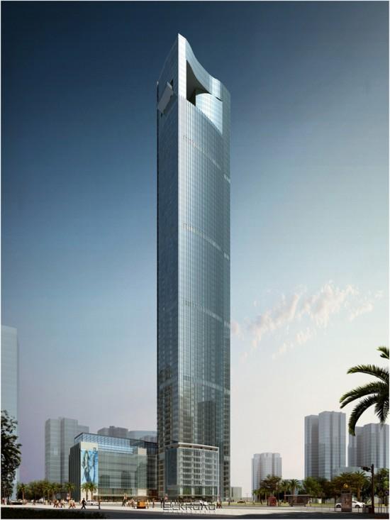 厦门国际中心:福建第一高楼、海西第一高楼