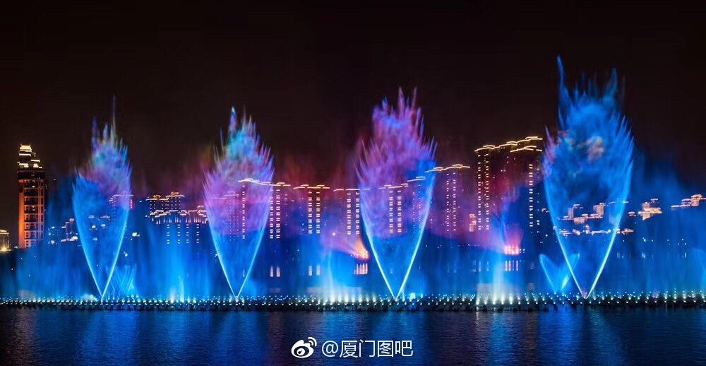 海沧喷泉:厦门首座大型海水喷泉水秀工程即将亮相 厦门喷泉 Amoy厦门 2